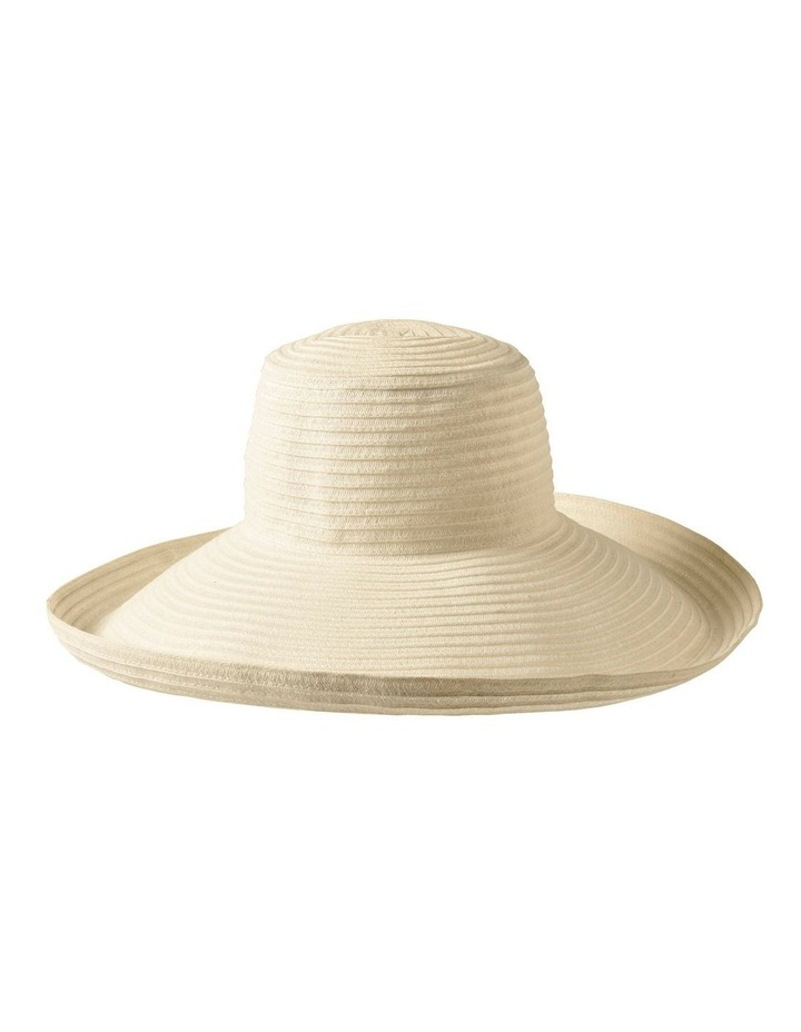 3-7909 White Turn Up Sun Hat image 2
