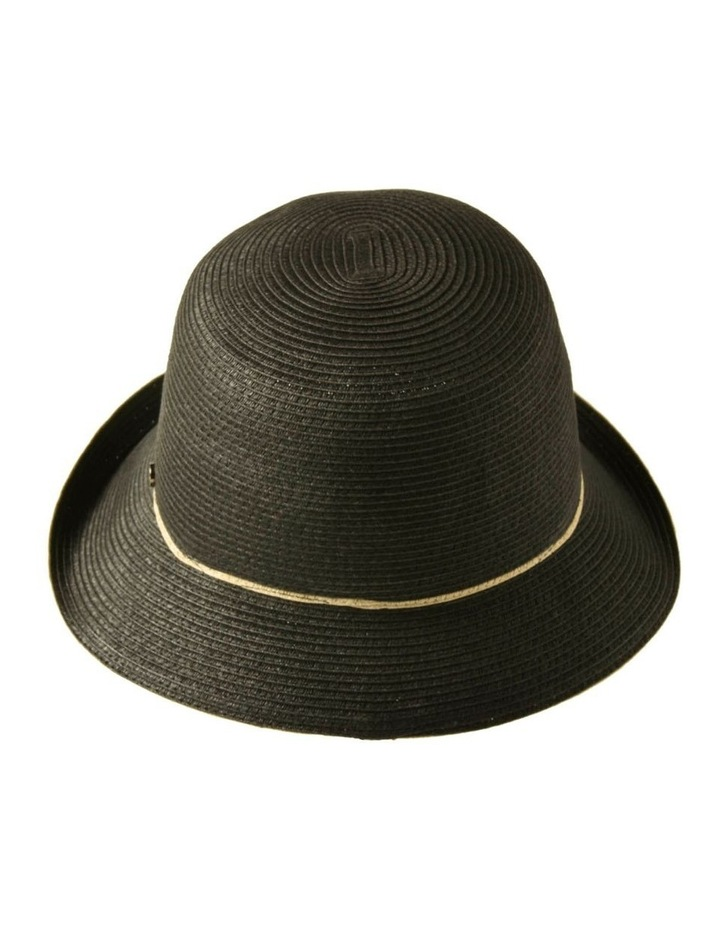 3-7908 Black Turn Up Hat With Trim image 3
