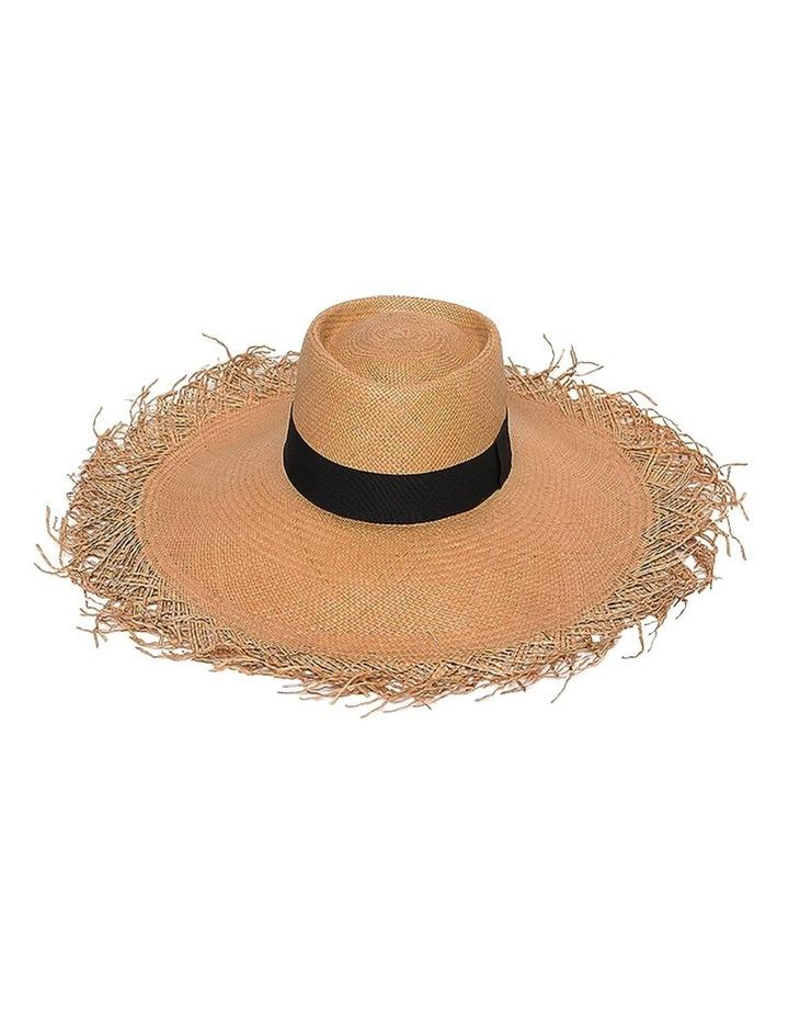 Adley Wide Brim Freyed Edge Summer Hat image 1