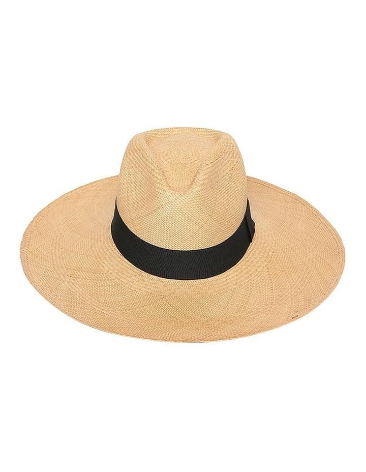 Emmy Wide Brimmed Straw Fedora Summer Hat image 1