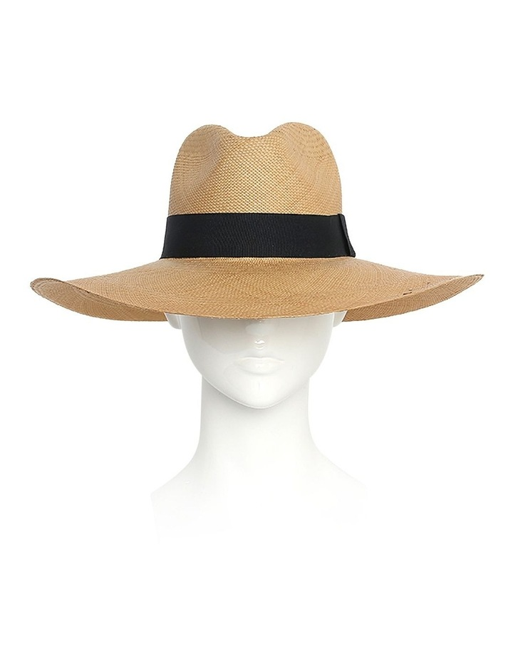 Emmy Wide Brimmed Straw Fedora Summer Hat image 2