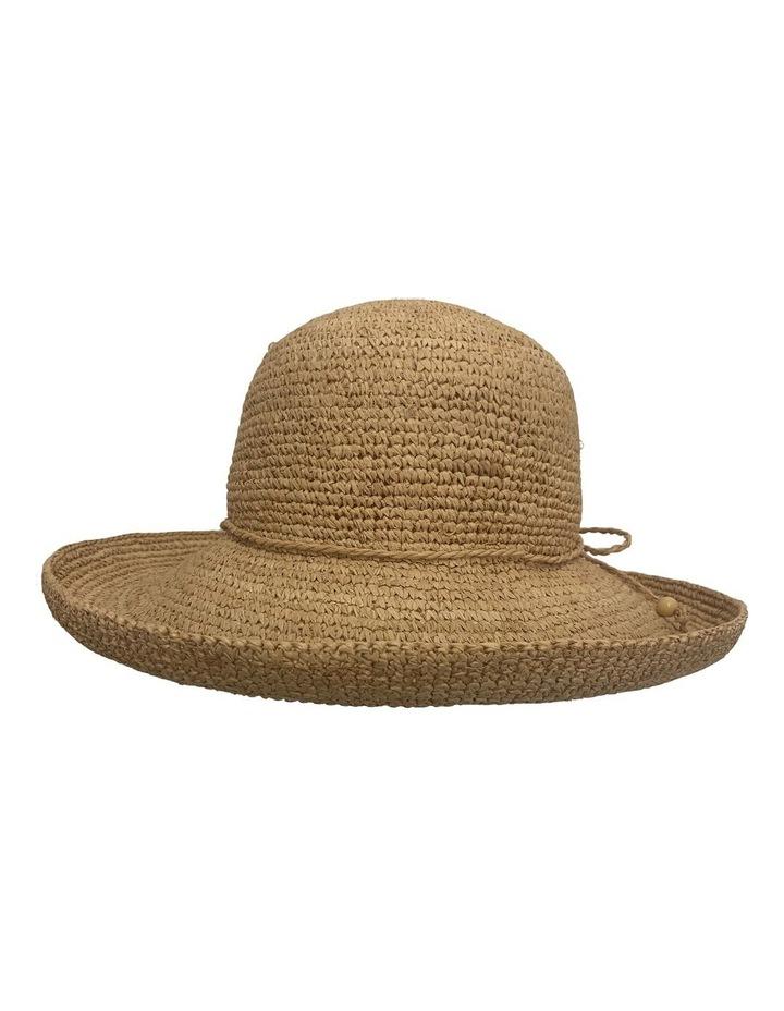 GHCR300M Raffia Crochet Upturn Brim Summer Hats image 1