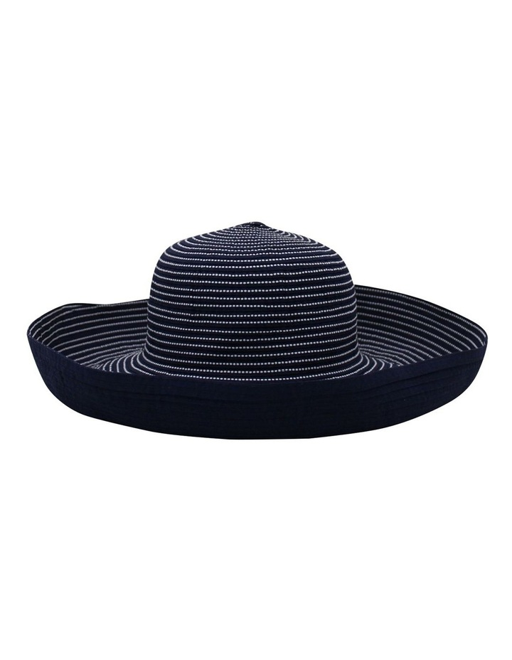 Striped Wide Brim Summer Hat SCF896 image 1