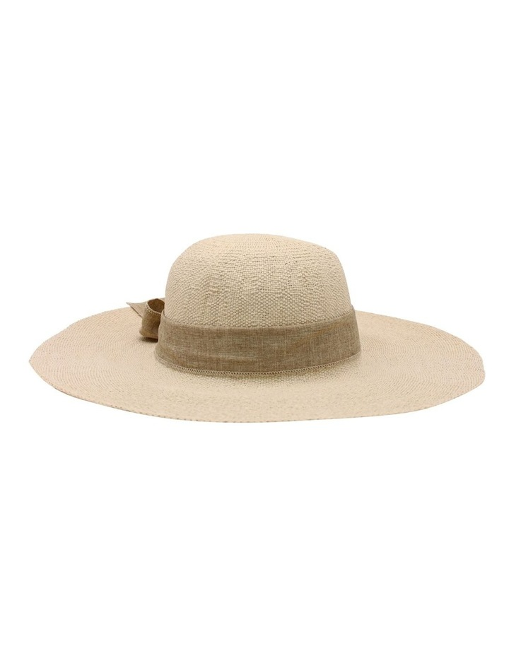RE0235 Large Brim With Ribbon Summer Hat image 1
