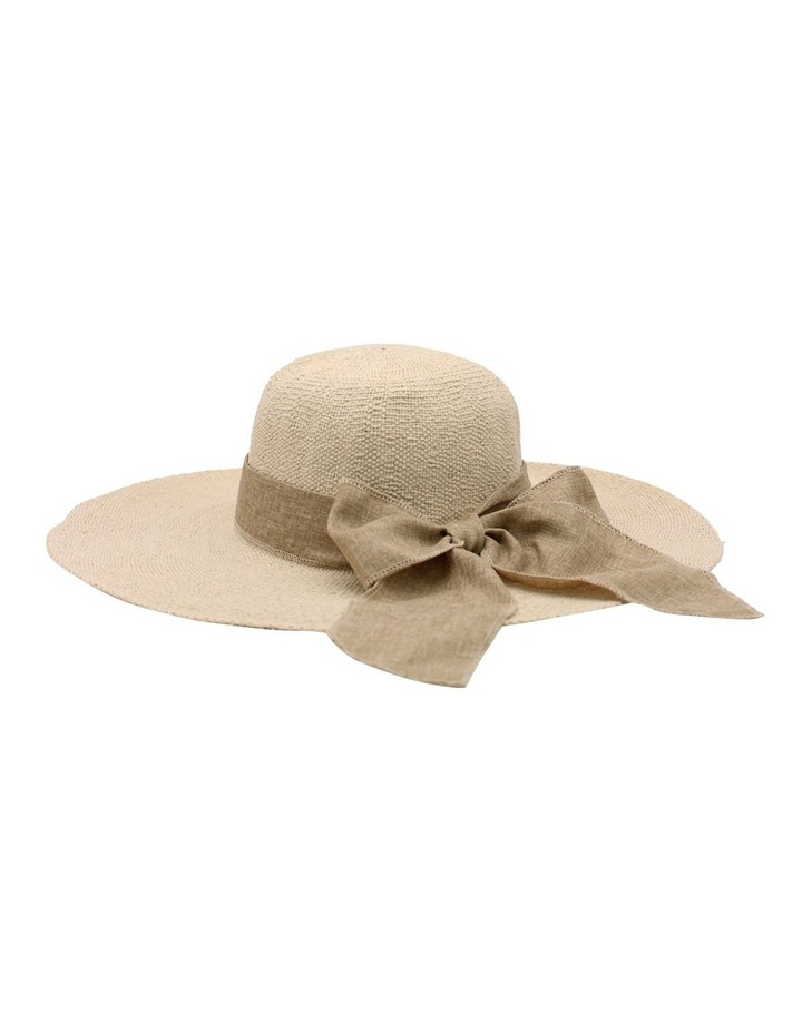RE0235 Large Brim With Ribbon Summer Hat image 2