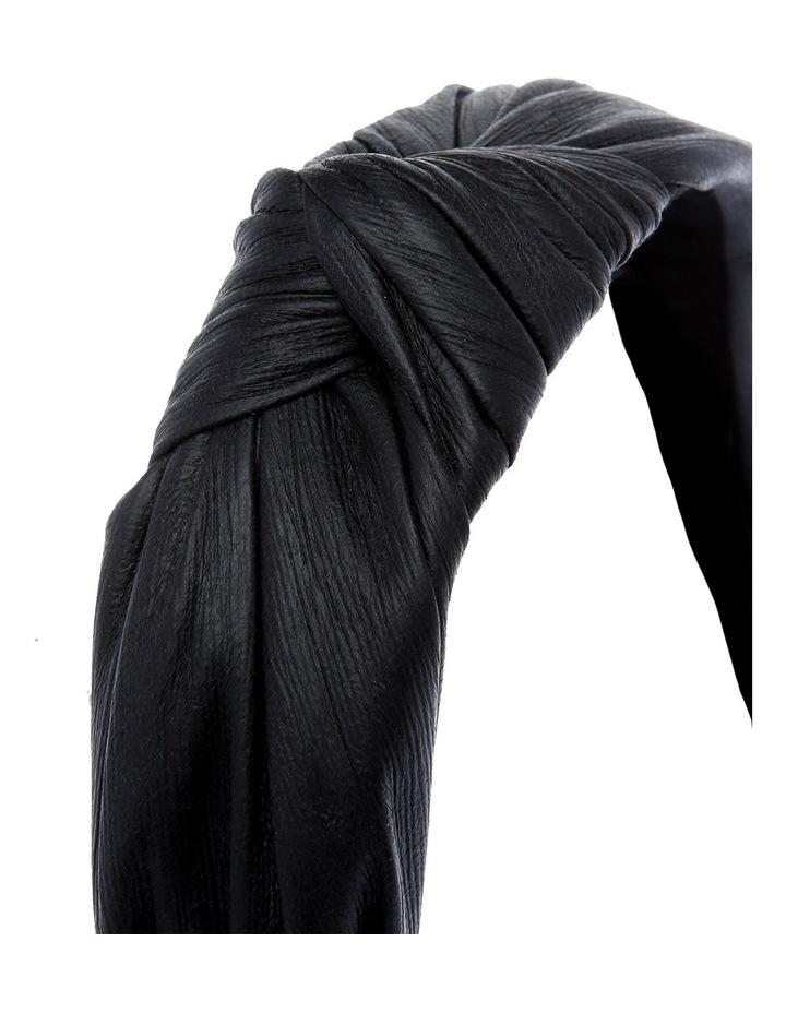 Leather Look Knotted Turban Headband GLA-827M image 3