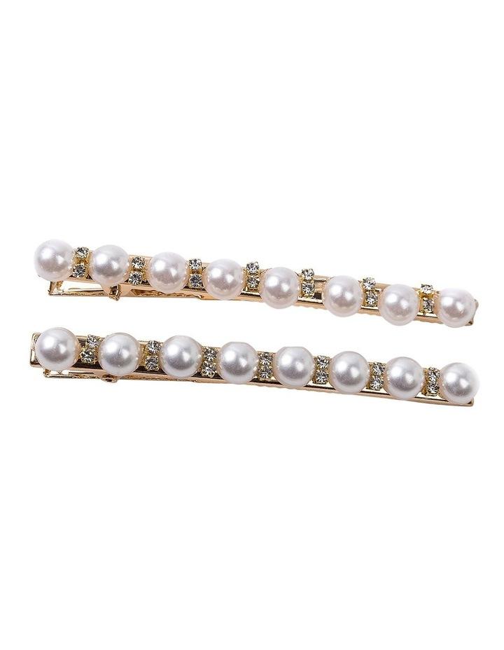 Pearl & Diamond Side Clip Hair Accessory image 1