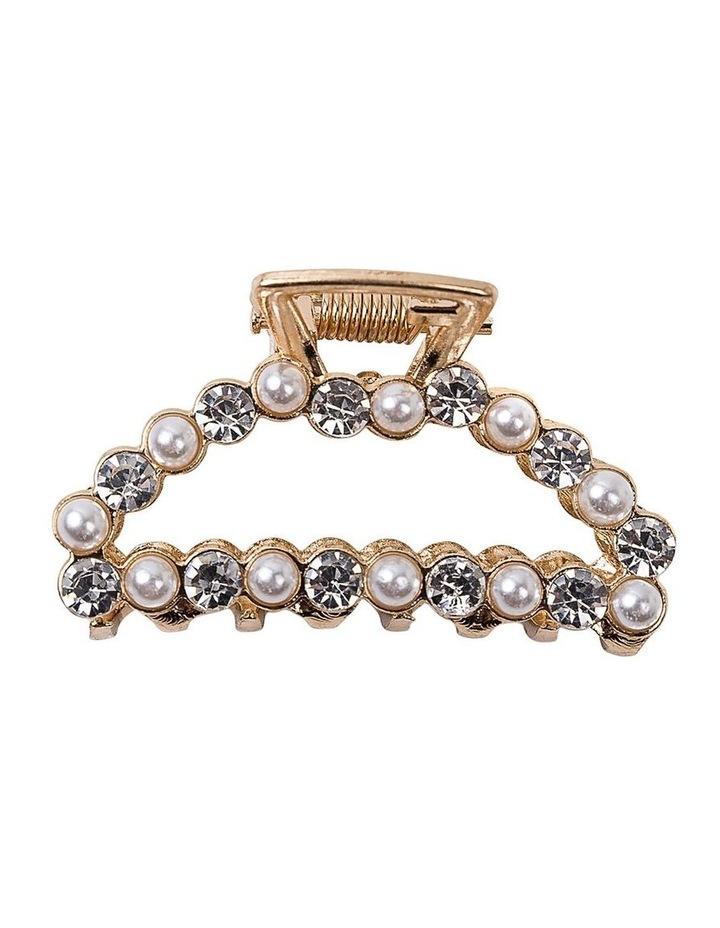 Pearl & Diamond Claw Clip Hair Accessory image 1