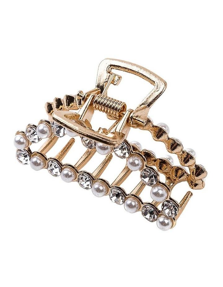 Pearl & Diamond Claw Clip Hair Accessory image 2