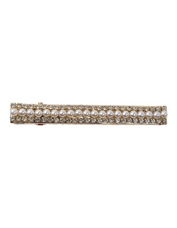 Diamante And Pearl Alligator Clip Hair Accessory image 1