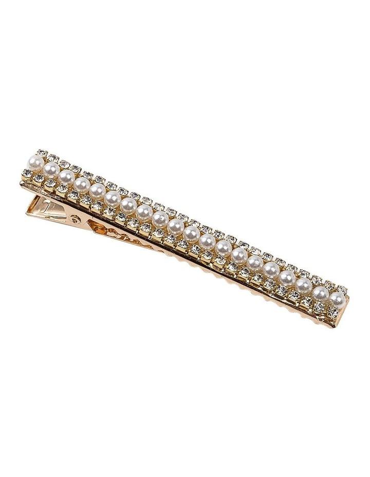 Diamante And Pearl Alligator Clip Hair Accessory image 2