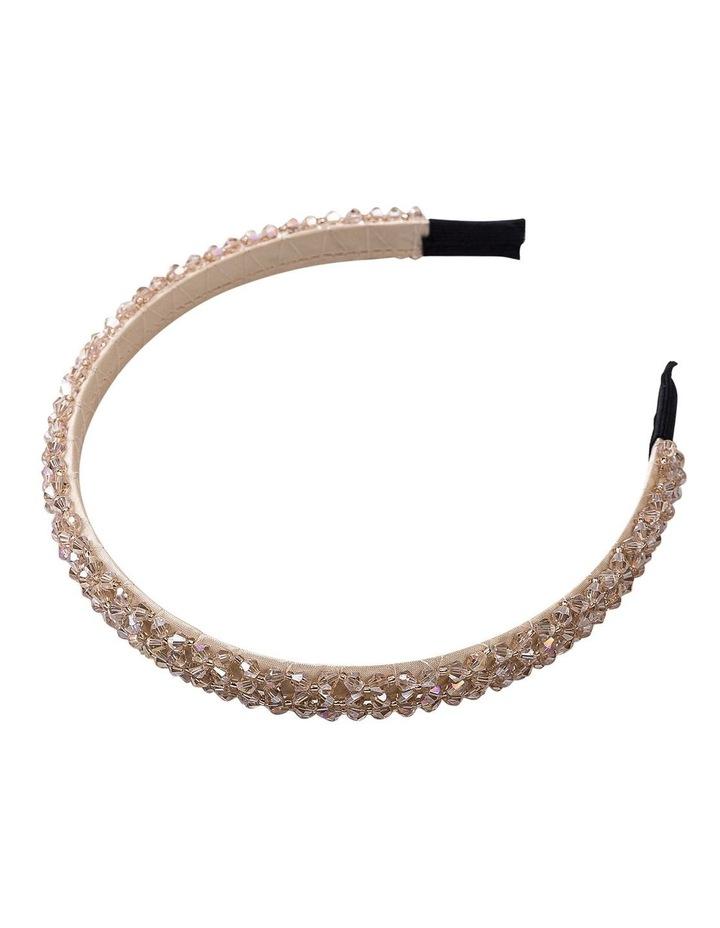 Champagne Beaded Headband Hair Accessory image 2