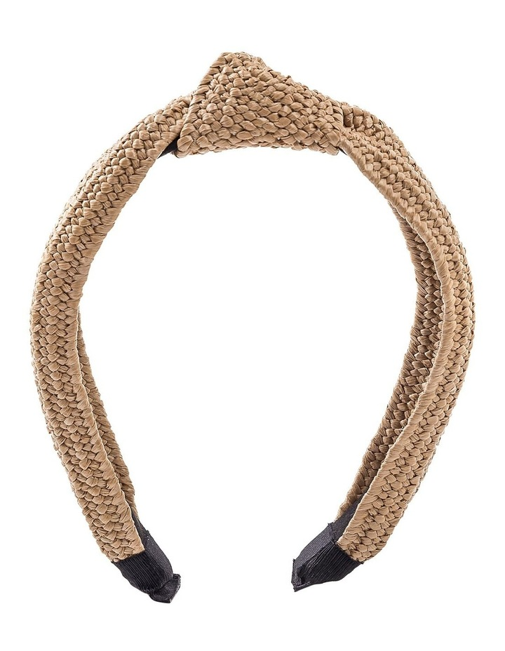 Straw Turban Hair Accessory image 1