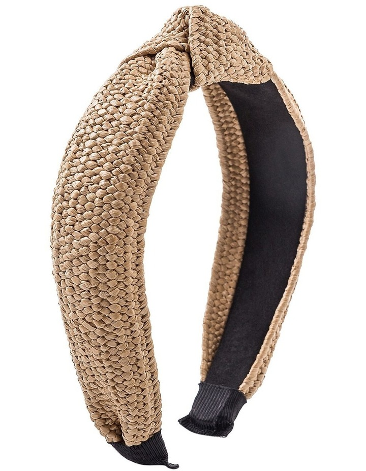 Straw Turban Hair Accessory image 2