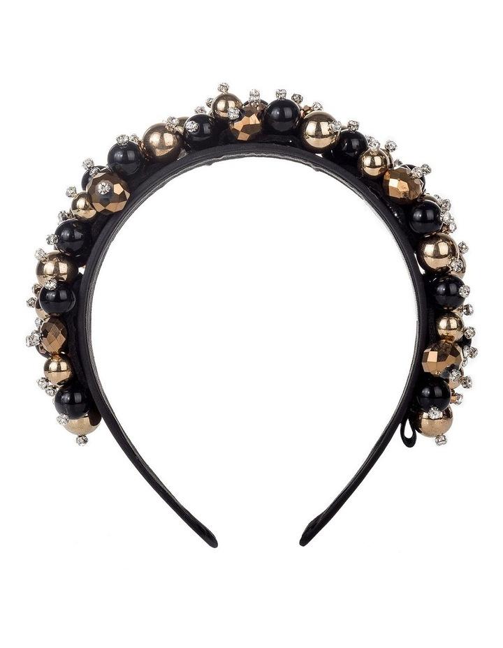 GHAR026M Beaded Headband W Czs Hair Accessory image 1