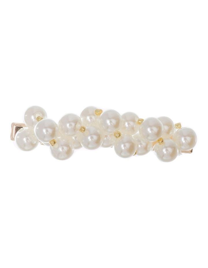 GHAR015M Clip W Faux Pearls Hair Accessory image 1