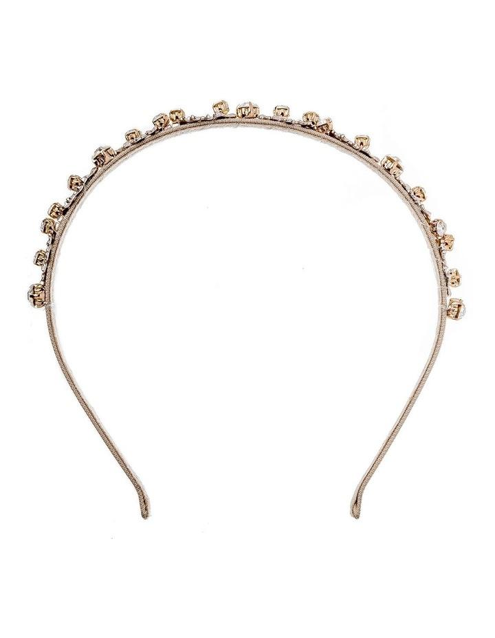 Metal Leaf Beige Headband image 1