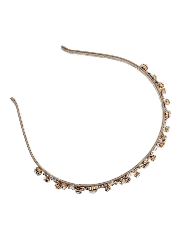 Metal Leaf Beige Headband image 2