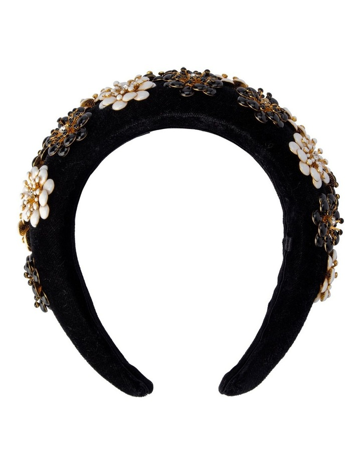 Lolita Velvet & Enamel Flower Headband image 1