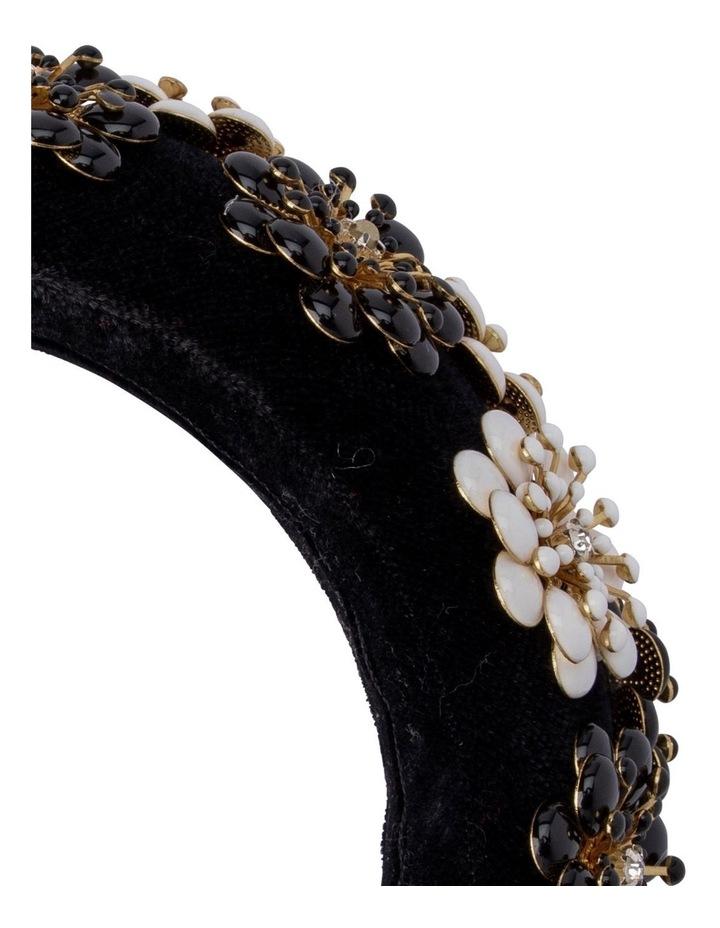 Lolita Velvet & Enamel Flower Headband image 2