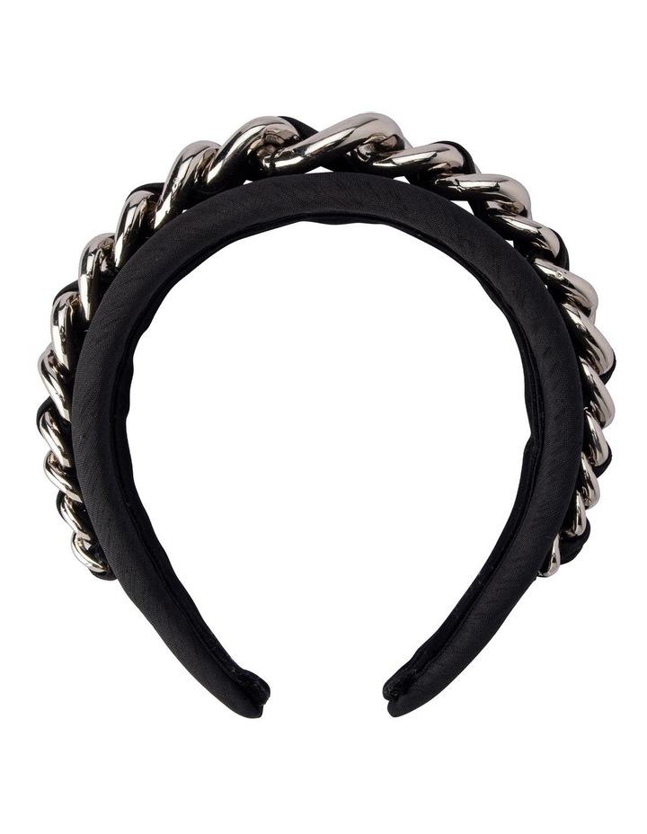 Greer Chain Embellished Padded Headband image 1