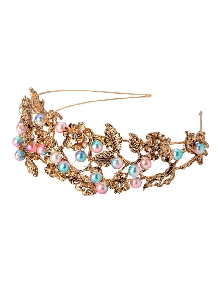 NINA Metal Flower Encrusted Headband image 2