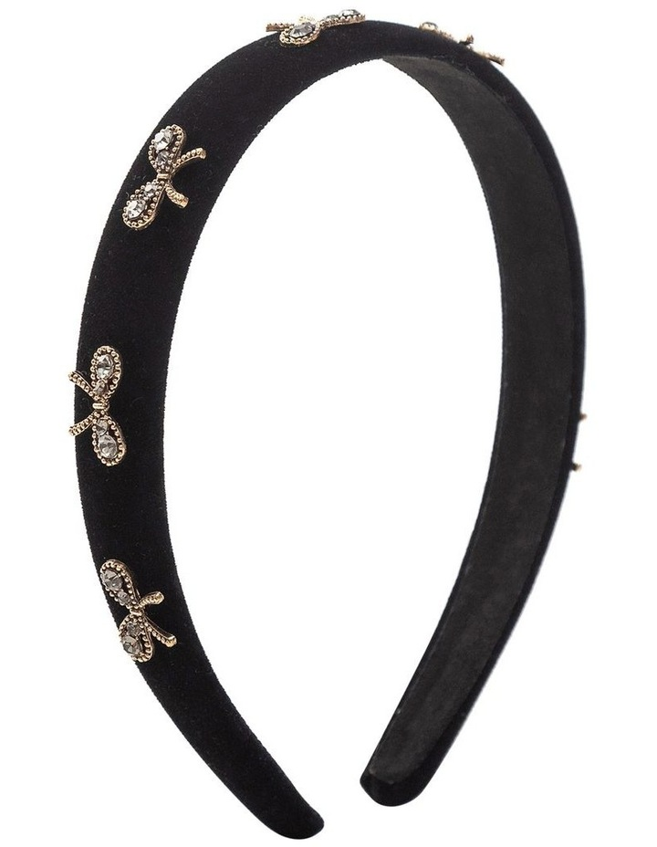 GHAS014M Velvet Headband With Bows image 1