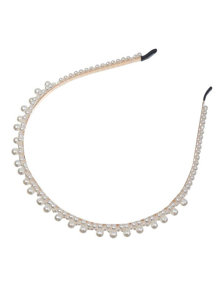 Thin Pearl Ivory Headband GHAS016M image 2
