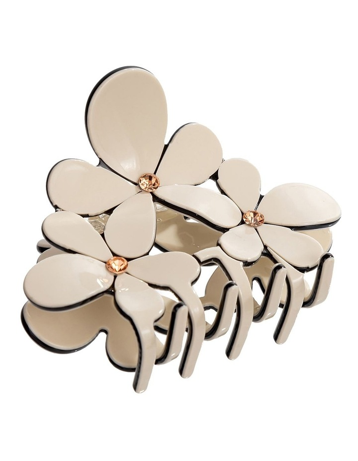 Flower Claw Ivory Hair Clip image 1