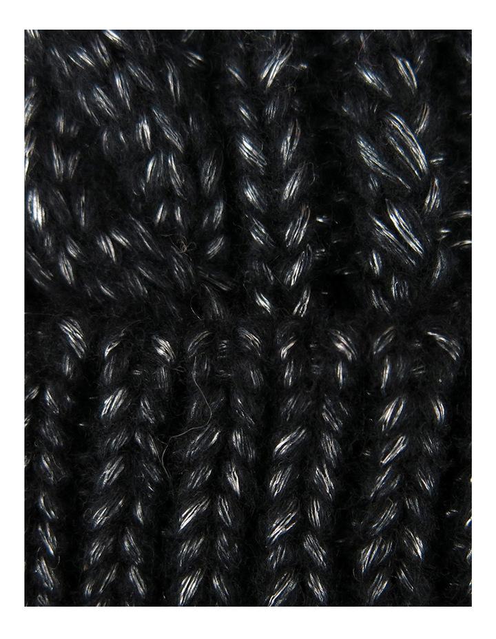 Cable Knit Beanie W Fur Pom Pom W1033 image 2