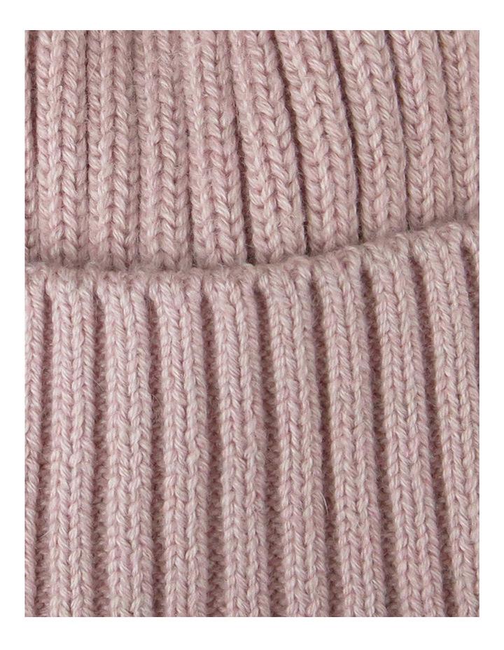 Basic Fur Pom Pom Beanie W1041 image 2