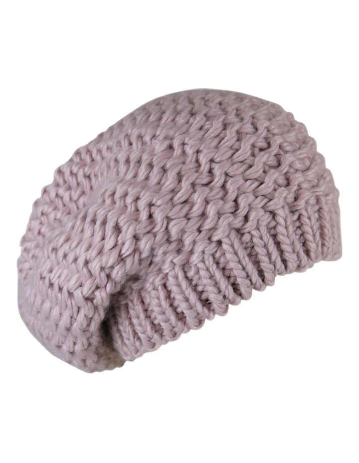 Knitted Slouchy Beanie W1047 image 2