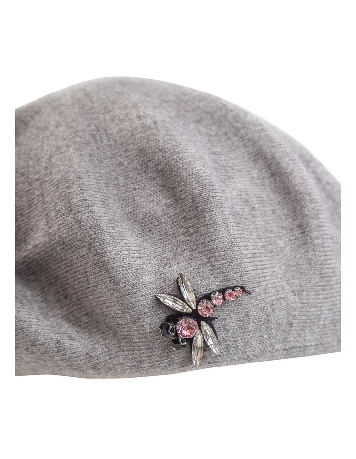 GHCS008M Little Flat Beret With Brooch Winter Hats image 2