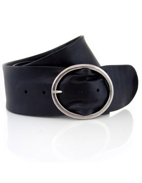 Wide leather belt image 1