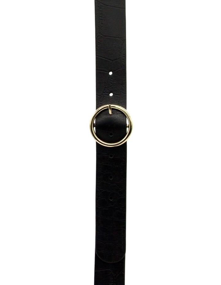 Black Leather Raffaello Belt image 1