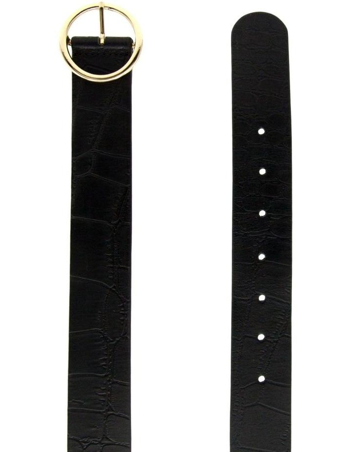 Black Leather Raffaello Belt image 2