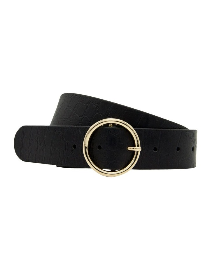 Black Leather Raffaello Belt image 4