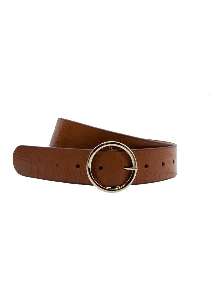 Tan Leather Raffaello Belt image 4