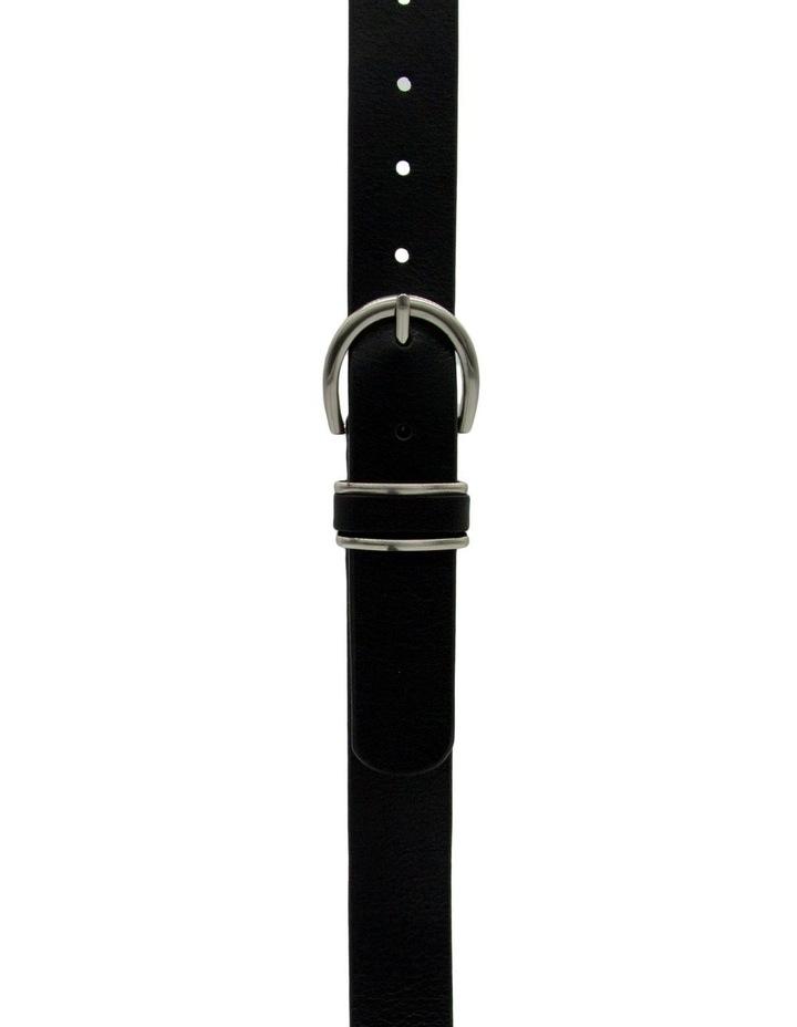 Black Leather Caf Cito Belt image 1