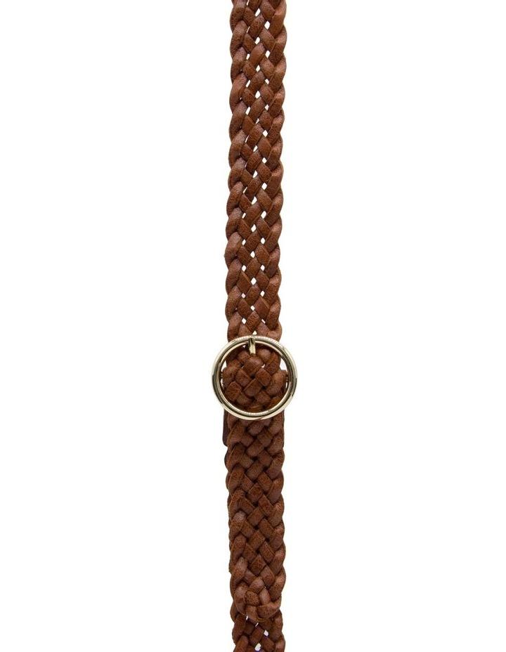Loop Dark Tan Leather Catrina Belt image 1