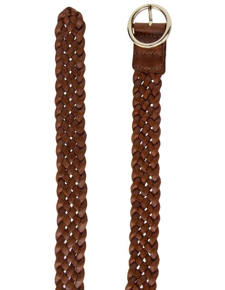Loop Dark Tan Leather Catrina Belt image 2