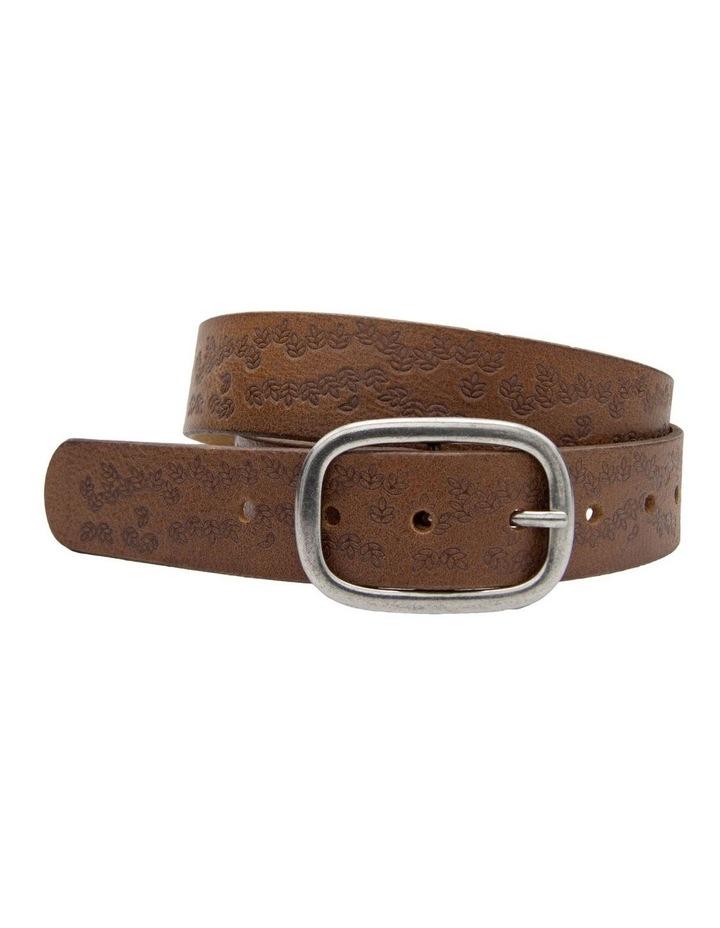 Loop Dark Tan Leather Lexington Belt image 1