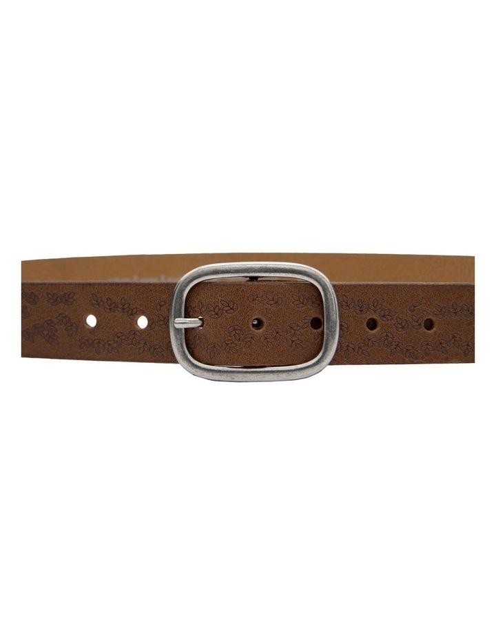 Loop Dark Tan Leather Lexington Belt image 2
