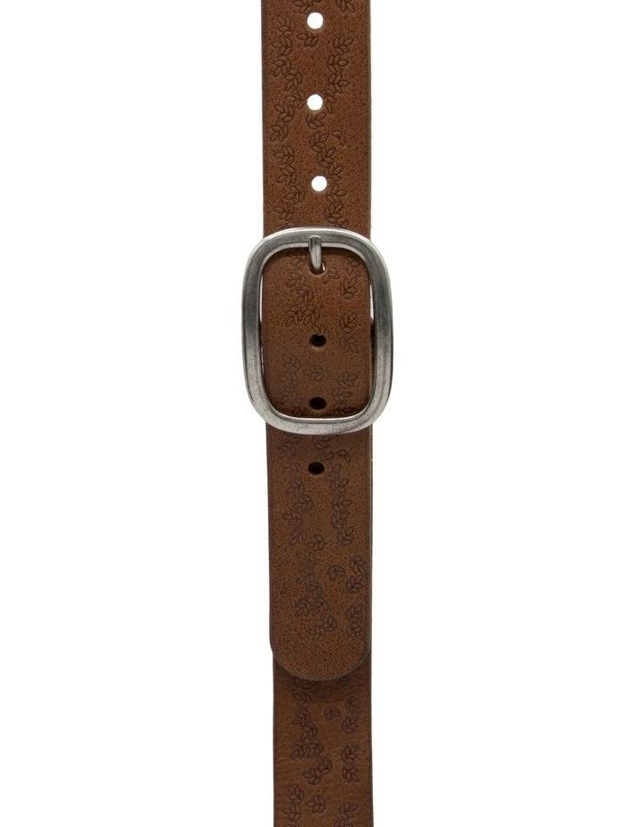 Loop Dark Tan Leather Lexington Belt image 3