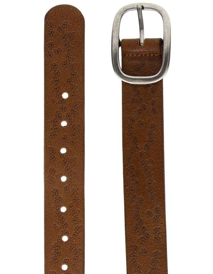 Loop Dark Tan Leather Lexington Belt image 4