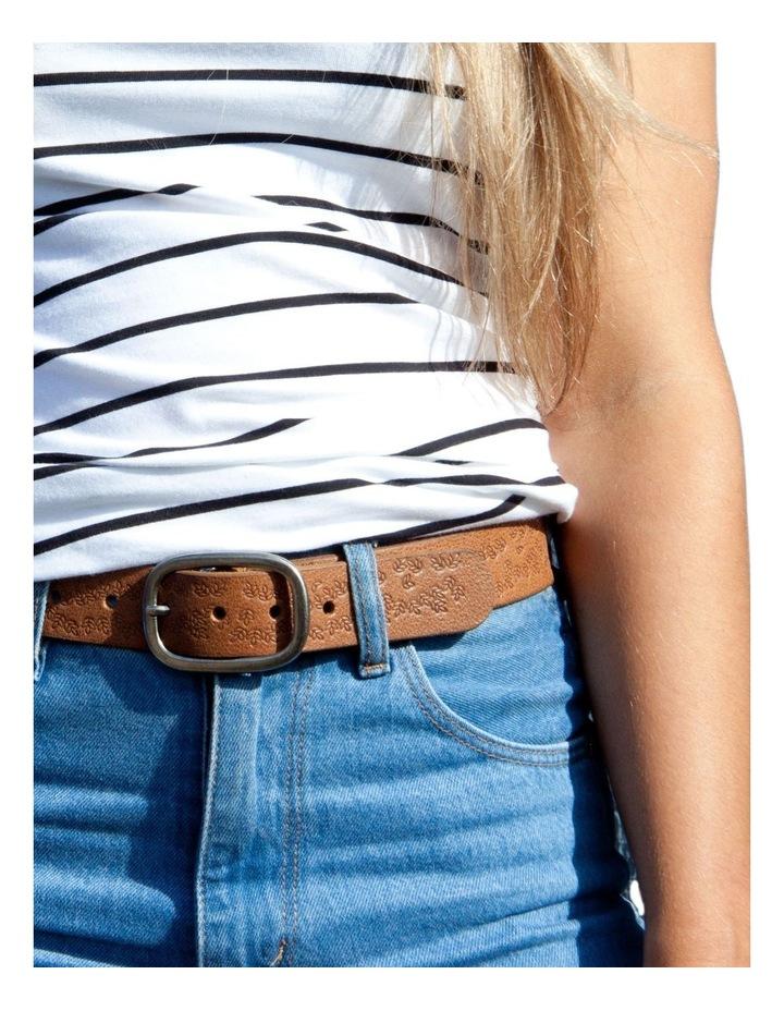 Loop Dark Tan Leather Lexington Belt image 5
