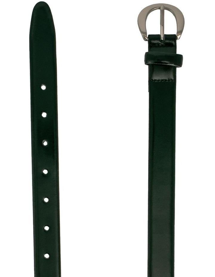 Black Leather Brier Belt image 2