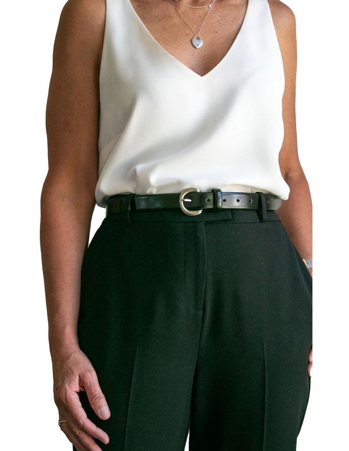 Black Leather Brier Belt image 4