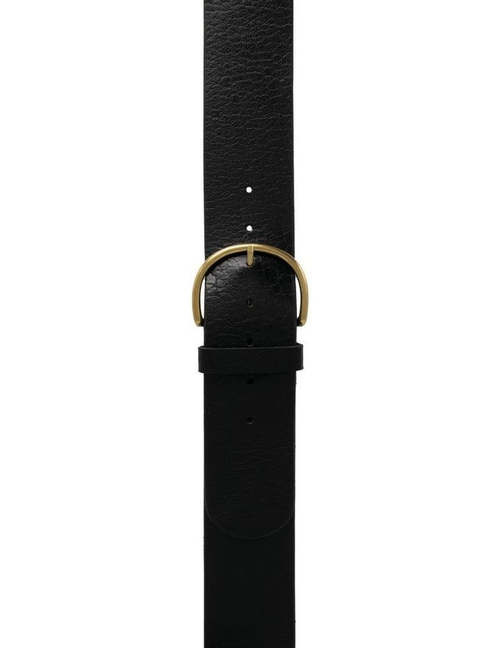 Black Leather Bellevue Belt image 1