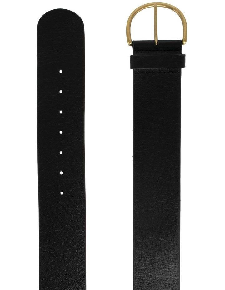 Black Leather Bellevue Belt image 2